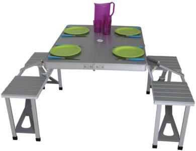 Aluminium campingtafelset Limoux