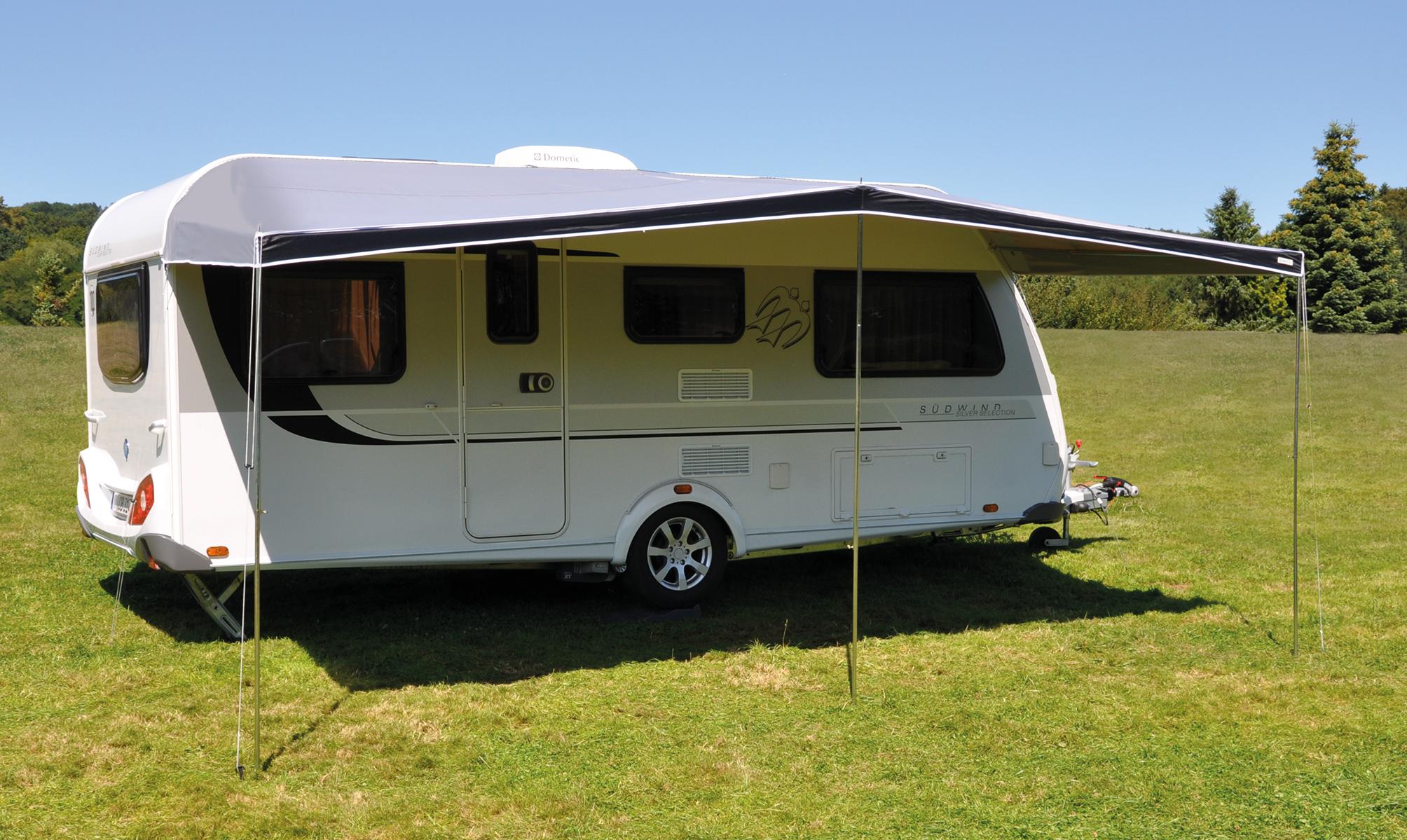 Caravan tent combi luifel eurotrail for Luifel caravan aanbieding