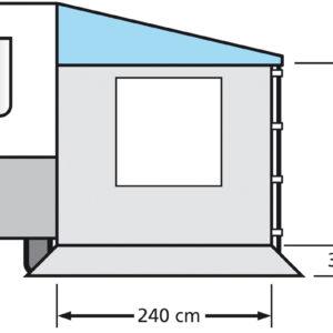 Eurotrail Seitenwand 240 mit Fenster