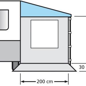 Eurotrail Side wall caravan awning