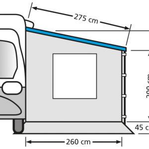 Eurotrail zijwand 275 camper