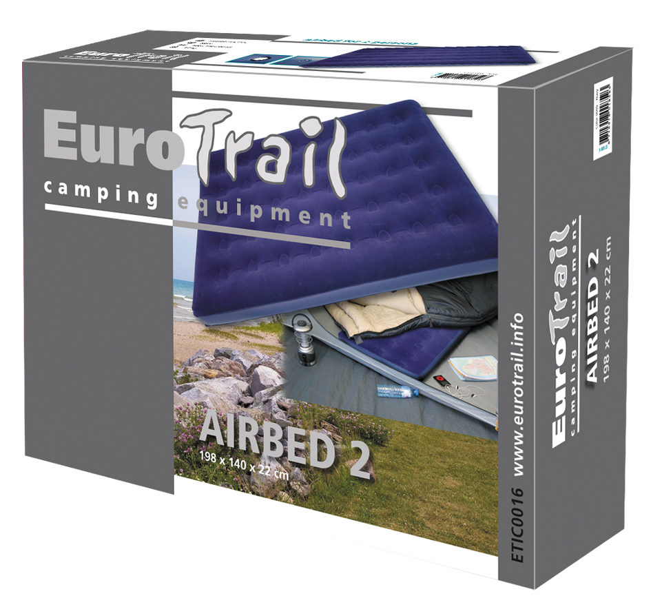 Bed 2 Personen.Airbed 2 Pers Eurotrail