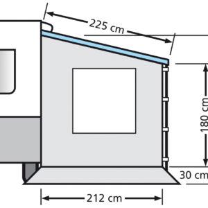 Eurotrail Seitenwand für Cassette Vordach Wohnwagen