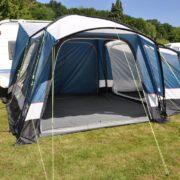 Vrijstaande tent voor aan de caravan of camper!