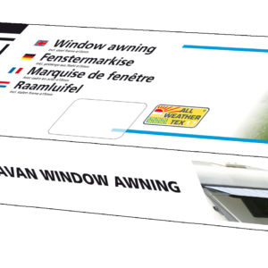 Eurotrail caravan raamluifel