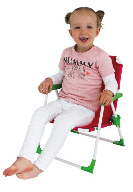 Eurotrail Nicky Kids: kinderklapstoel met stevig en stabiel stalen frame.