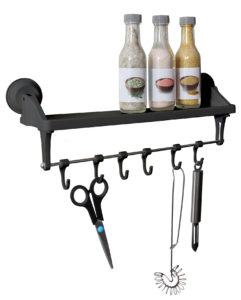 Eurotrail Shelf with hooks