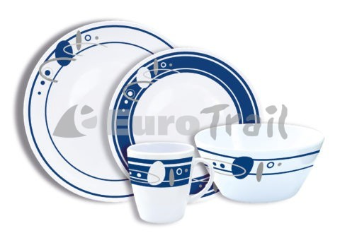 Eurotrail Saturn 16 pcs. melamine tableware