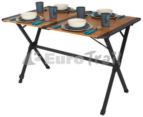 Eurotrail Chamberry bamboo camping table